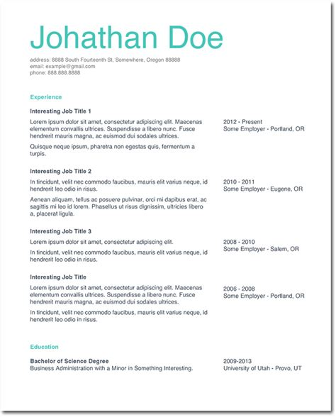 Professional Resume Adjectives Babysitting Resume Exle Simple Resume Template
