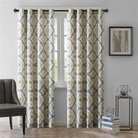 sheer ikat curtains ink ivy ankara ikat semi sheer single curtain panel