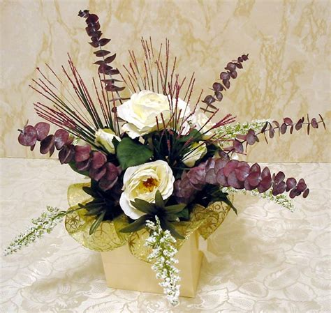 how to make floral arrangements step by step make a classy silk flower centerpiece in five easy steps