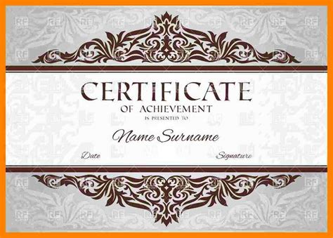 fancy certificate template 4 certificate of completion templates free