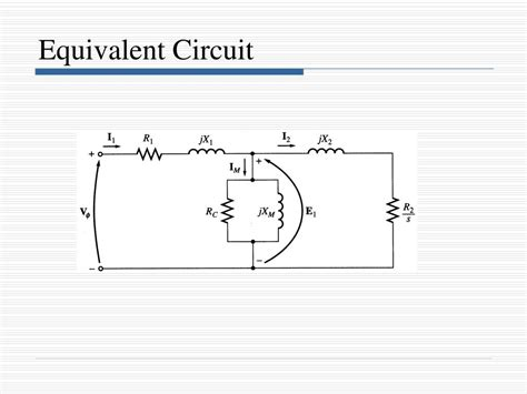 thevenin equivalent circuit of induction motor ppt induction motors powerpoint presentation id 752079