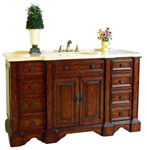 59 bathroom vanity sink 59 inch single sink bathroom vanity traditional