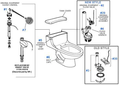 Plumbing Supplies Hamilton by American Standard Toilet Repair Parts For Hamilton Series