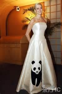 charlene wittstock in cute panda gown