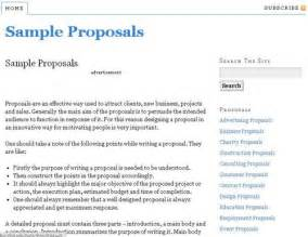 Sample proposals resource to write proposals with free sample
