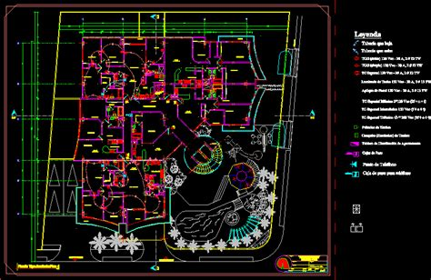electrical drawings american palace dwg block  autocad