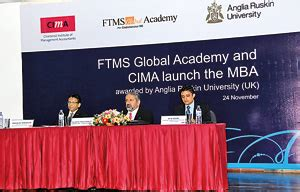 Anglia Ruskin Mba Singapore by Ftms Global Academy And Cima Launch Mba