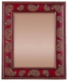 8 By 10 Rugs Hand Painted Paisley Photo Frame Asian Picture Frames By Cultural Elements