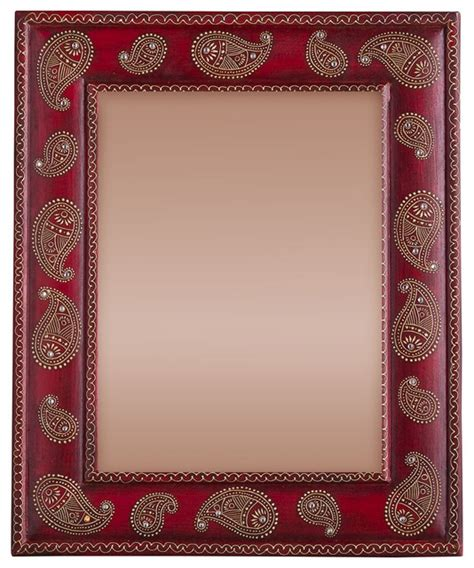 paisley pattern photo frame hand painted paisley photo frame asian picture frames