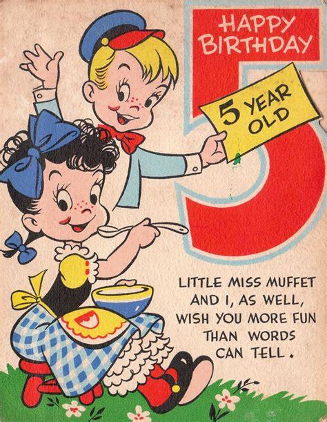 Happy 5 Birthday Wishes Birthday Birthday Cards Pinterest