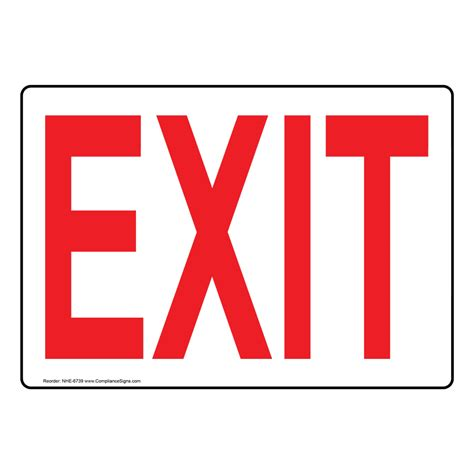 Exit Sign by Exit Sign Nhe 6739 Enter Exit