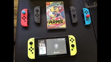 Nintendo Switch Con L R Yellow And Arms Murah arms neon yellow nintendo switch joycons unboxing and review