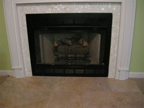 Of Pearl Fireplace by Of Pearls Tile Fireplace And Tile On
