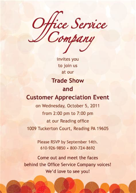 Customer Appreciation Invitation Designs Just B Cause Customer Appreciation Event Invitation Template