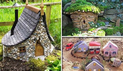 miniature garden houses cutest miniature stone houses diycraftsguru