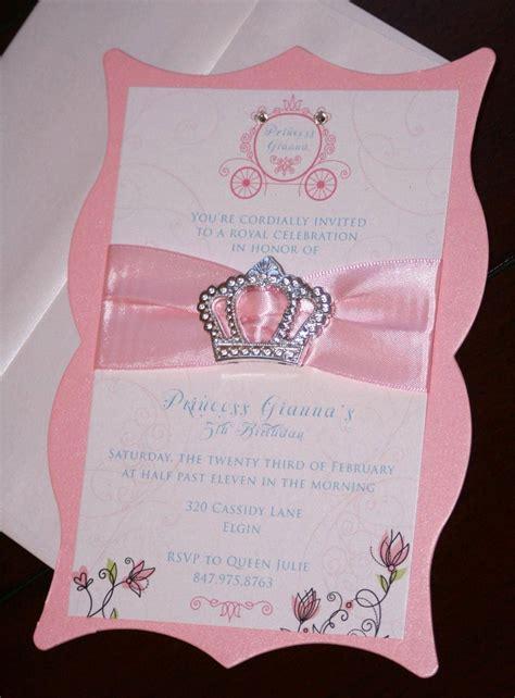 princess invitations princess birthday invitations chic shab