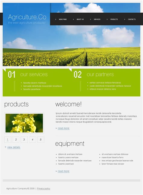 templates for agriculture website agriculture website template 20302