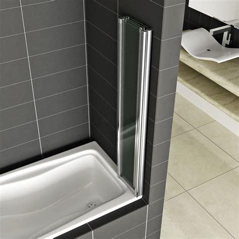 folding bath shower screens 4 5 fold aica chrome folding bath shower screen 6mm glass door panel ebay
