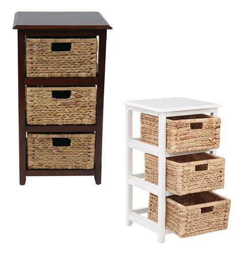 3 drawer wooden storage tower 3 drawer espresso or white wood storage tower w baskets