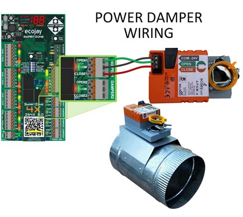 ZoningSupply.com   Zone Control   Damper Wiring: Yet another 5 terminal damper style wired to