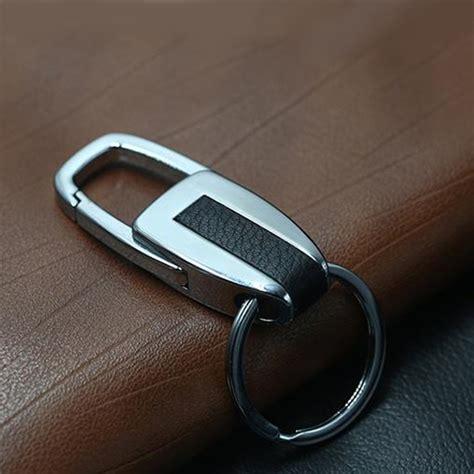 Car Key Ring single ring metal leather key chain metal car key ring
