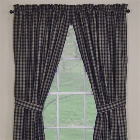 country curtains sturbridge country panel curtains sturbridge navy lined panel 84 quot