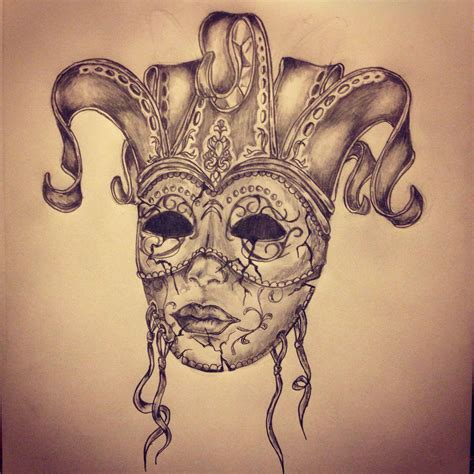 sketch tattoo carnival mask sketch by ranz mask