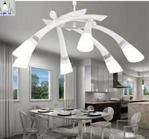 Modern Dining Room Pendant Lighting Aliexpress Buy Modern Fashion 6 Heads Led Acryl Dining Room Pendant Lights For Living Room