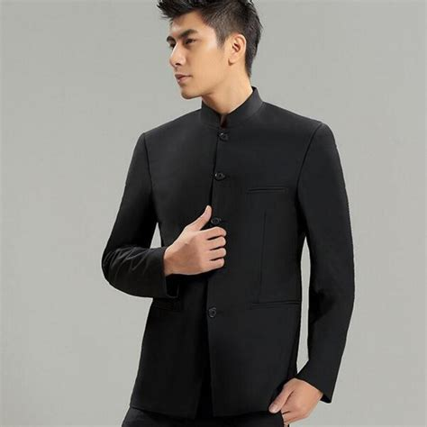 New Year Calls For A Mandarin Collar by Aliexpress Buy Collar Suit Jacket For