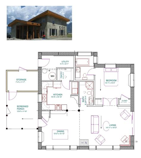 Eco Nest Plan | eco nest 1200 straw bale plan this home was designed