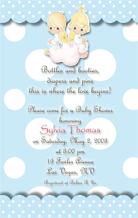 Precious Moments Baby Shower by Precious Moments Baby Shower Invitations Blue And
