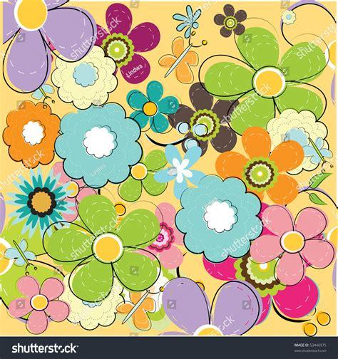 seamless pattern summer summer floral seamless pattern stock vector 53446975