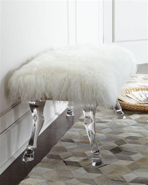 sheepskin bench massoud centaur white sheepskin bench