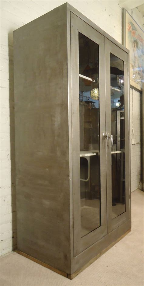 Industrial Storage Cabinets With Doors Large Industrial Door Cabinet For Sale At 1stdibs