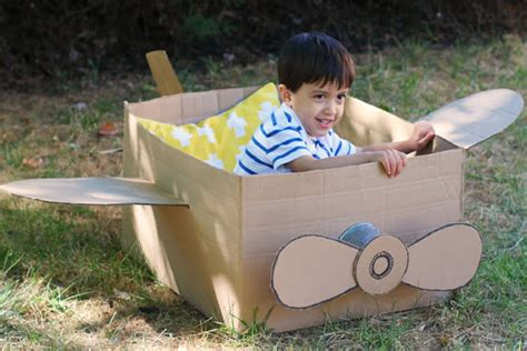 How To Make A Of David Out Of Paper - cardboard box airplane crafts for pbs parents