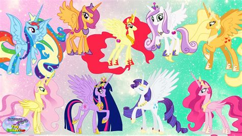 My Little Pony Colouring Pages by My Little Pony Transforms Into Alicorn Princess Mane 6