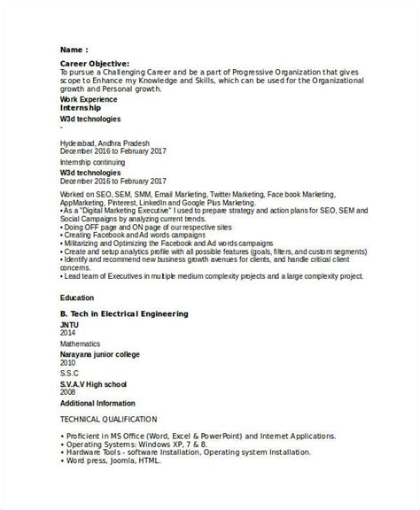 28 entry level marketing resumes modern marketing