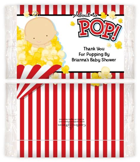 Baby Shower Popcorn Wrappers by About To Pop Baby Shower Popcorn Wrappers Baby Shower