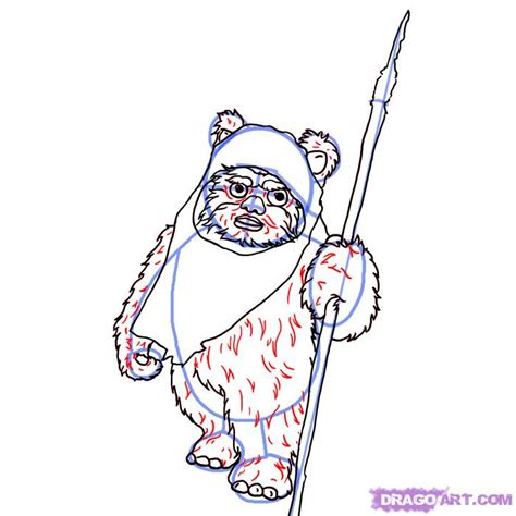 How to Draw an Ewok, Step by Step, Star Wars Characters