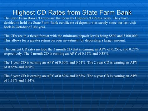 cd at bank highest cd rates from state farm bank