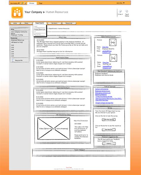 wireframe visio sharepoint wireframing to mockup how to guide digital