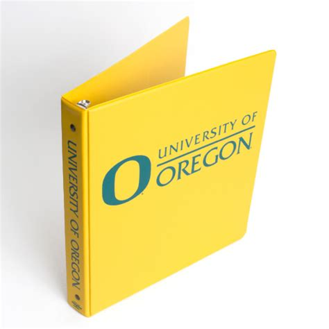 University Of Oregon Gift Card - yellow four point university of oregon vinyl binder 1 quot
