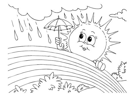 spring sun coloring page spring rainbow coloring sheets printable rainbow and sun