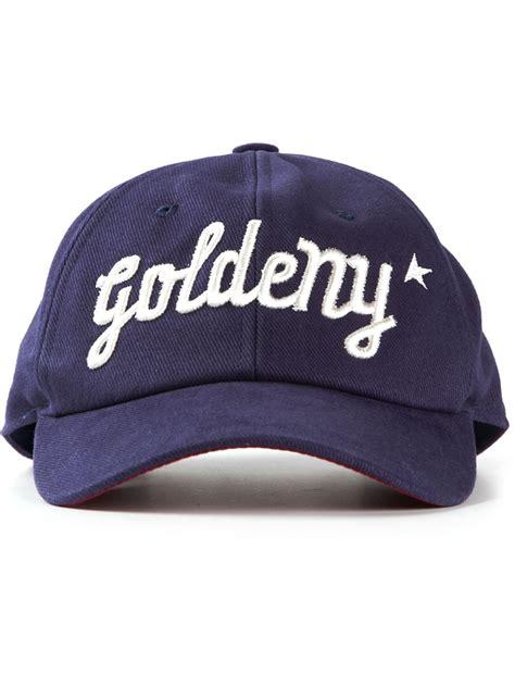 baseball cap logos of brands lyst golden goose deluxe brand embroidered logo baseball