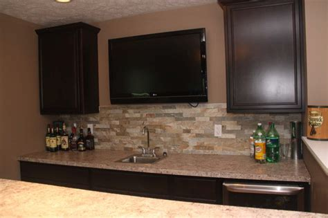 Bar Backsplash Ideas by Basement Bar Cabinetry Ideas Modern Cleveland By Jm