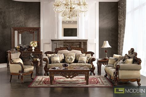 Antique Style Living Room Furniture Formal Style Living Room Antique Style Luxury Sofa Set Mchd296