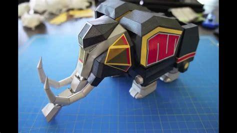 Megazord Papercraft - mammoth papercraft power rangers megazord
