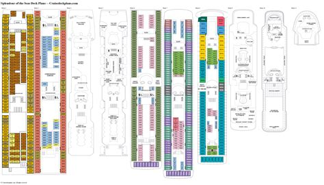 of the seas floor plan splendour of the seas deck plans cabin diagrams pictures