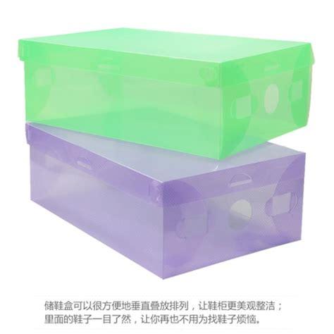 plastic storage boxes for shoes 1pcs transparent shoe boxes clear plastic pp storage box