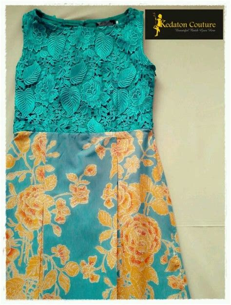 Dress Brukat Kombinasi Batik h632 batik dress blue aqua turquoise beautiful batik